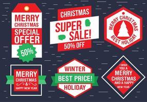 Étiquettes gratuites de Noël vecteur