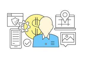 Icônes de finances gratuites vecteur