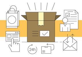 Illustration vectorielle livraison de paquet vecteur