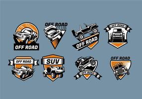 Logo logo Jeep Badges vecteur