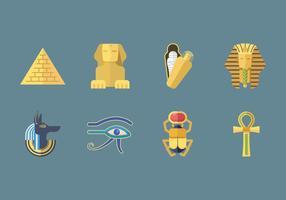 Icônes libres d'egypte ancienne vecteur