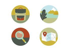 Icônes vectorielles de voyage