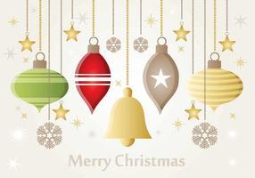 Ornements vectoriels de Noël vecteur