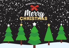 Arbres de Noël vectoriels gratuits vecteur