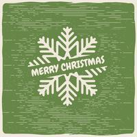 Flocon de neige de Noël Vectoriel gratuit