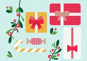 Boîtes cadeaux gratuites de Noël pour vecteur