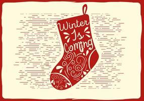 Illustration de chaussettes de vecteur de Noël gratuit