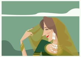 Vecteur de femme indienne