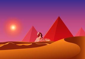 Piramide égyptienne vecteur