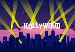 Vecteur gratuit de lumières de Hollywood