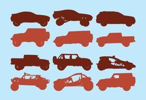 Icône Set Of Off Road Car vecteur