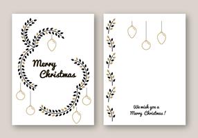 Vecteur de carte Joyeux Noël gratuit