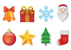 Ensemble d'icônes de Noël vecteur
