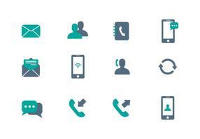 Vecteur d'icône de communication gratuite