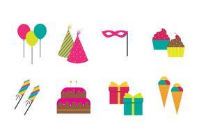 Vecteur libre d'icônes de fête