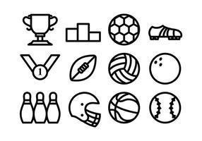 Icône de sport vecteur ligne plate