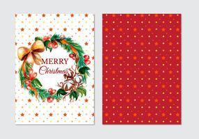 Belle carte de Noël vectorielle gratuite vecteur