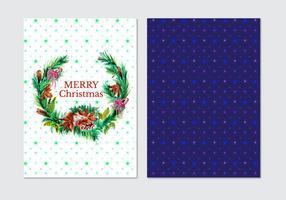 Carte de Noël d'aquarelle gratuite pour vecteur