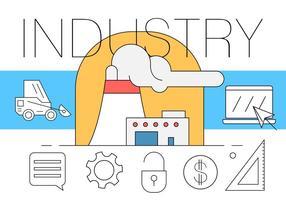 Illustration industrielle gratuite vecteur