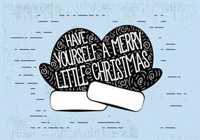 Fond d'écran de Noël gratuit dessiné à la main vecteur