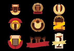 Vecteur d'emblèmes de luttern gratuit