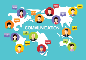 Illustration vectorielle de communication vecteur