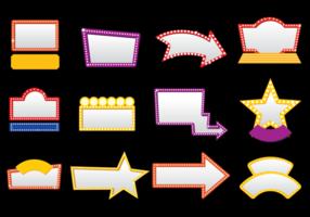 Illustration vectorielle de Hollywood Lights vecteur