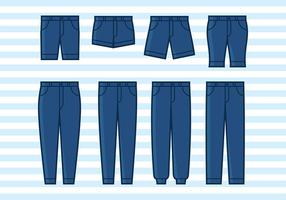 Blue jean flat icon vecteur gratuit