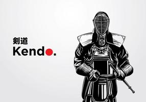 Kendo illustration vecteur gratuit