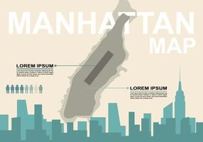 Illustration gratuite de la carte de Manhattan vecteur