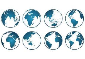 Ensemble d'icônes Globus vecteur
