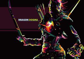 Dragons dogma - popart portrait vecteur