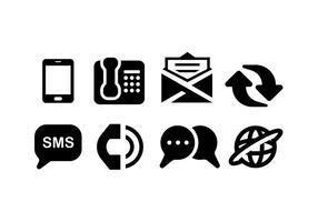 Icônes de communication vecteur