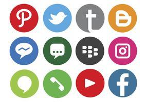 Logo des médias sociaux vecteur