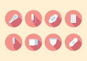 Vecteur gratuit pour l'hygiène féminine