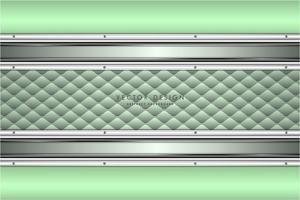 panneaux vert et argent métalliques avec texture de rembourrage