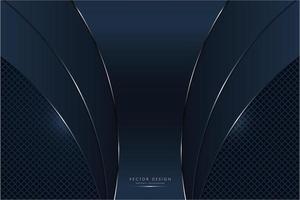 Panneaux métalliques incurvés bleu marine avec motif losange brillant