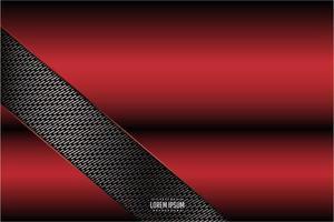 design rouge métallique avec découpe de motif en angle