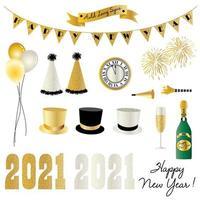 Graphiques de célébration du nouvel an 2021 vecteur