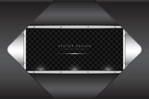 cadre diamant gris métallisé sur panneau argenté avec motif