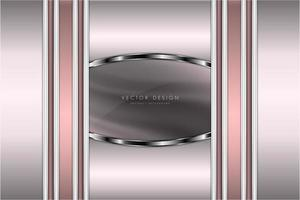 design élégant en métal moderne rose et argent de luxe