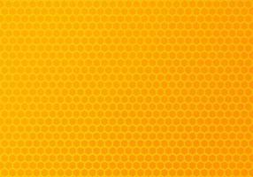 motif hexagonal orange et jaune vecteur