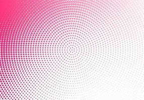 conception circulaire abstraite en pointillé rose