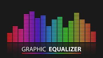 égaliseur graphique coloré avec réflexion