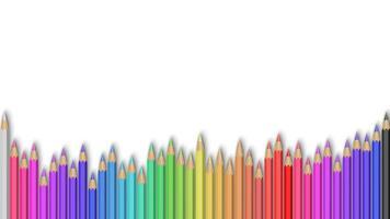 crayons de couleur sur blanc vecteur