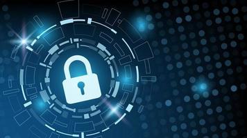 conception de technologie de point circulaire de cybersécurité