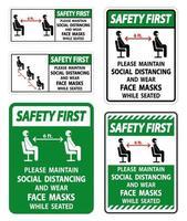 maintenir la distance sociale et porter des signes de masques
