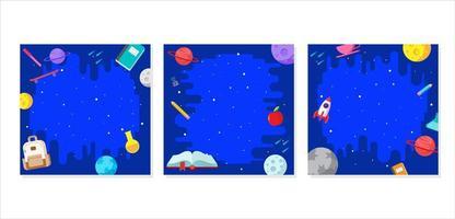 ensemble de cadre de profil concept space galaxy