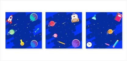 cadre de profil avec concept de galaxie spatiale
