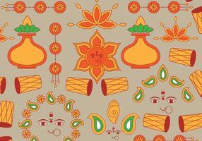 Icône du festival indien vecteur